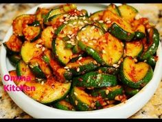 ▶ Spicy Korean Sauteed Zucchini (Squash) Side Dish (호박볶음) Vegan Recipe by Omma's Kitchen - YouTube