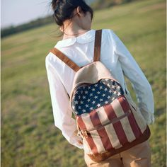 Stars and Stripes Printed Backpack 0627053