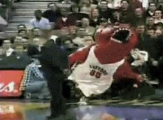 The most entertaining mascot ever. | 31 GIFs That Will Make You Laugh Every Time