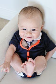 DIY baby onesie cardigan