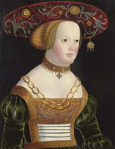 GERTNER, PETER (Nuremberg circa 1495/1500 - after 1541) Susanne, electoress of the Pfalz as Salome. Oil on panel. 48 x 37 cm.
