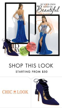 """""""robe de soirée-prom dress-79"""" by sophie-robelle on Polyvore featuring Schutz and WALL"""