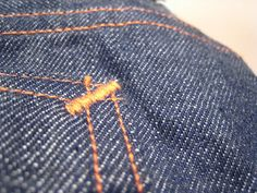 bar tack stitch denim | The stitching that appears to be a bartack is actually a…
