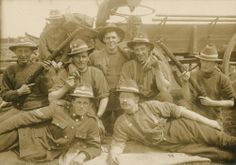 Soldiers and rifles in front of horse-drawn cart. City Library, Lest We Forget, Horse Drawn, World War One, Rifles, Nurses, Soldiers, New Zealand, Cart