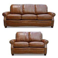 Luke Leather - Ashton 2 Piece Leather Sofa Set - LUK-Ashton-SL