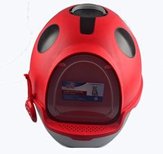 Fully Enclosed Selfcleaning Cat Litter box Cartoon Coccinella septempunctata Shaped -- You can find more details by visiting the image link.