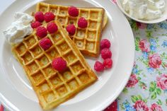 Koolhydraatarme wafels, suikervrij en glutenvrij - Con-serveert Paleo Keto Recipes, Low Carb Recipes, Cooking Recipes, G 1, Healthy Cake, Gluten Free Baking, Low Carb Keto, Food And Drink, Snacks