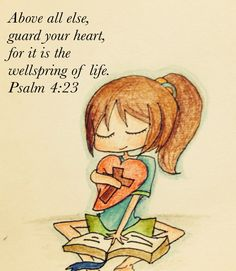 Above all else, guard your heart, for it determines the course of your life. Above all else guard your heart in Jesus, for everything else in life flows from there. Scripture Art, Bible Art, Bible Scriptures, Bible Quotes, Encouragement Scripture, Scripture Doodle, Faith Quotes, Psalm 4, Guard Your Heart