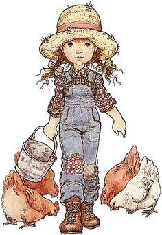 Sarah Kay - Illustration - Reminds me my childhood. Sarah Key, Holly Hobbie, Illustrations, Illustration Art, Digital Stamps, Vintage Cards, Cute Drawings, Cute Art, Cute Kids