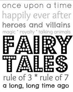 Library Subway Art for Fairy Tales - Black & White. At All Y'all Need on TpT