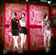 """CENTRAL CHIDLOM, Bangkok, Thailand, """"Chinese New Year', pinned by Ton van der Veer Rooster Chinese New Year, Cny 2017, Golden Week, Store Windows, Lunar New, Window Displays, Bangkok Thailand, Window Shopping, Visual Merchandising"""
