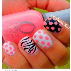 Beautiful Photo Nail Art: 19 Zebra Nails Art Design Ideas