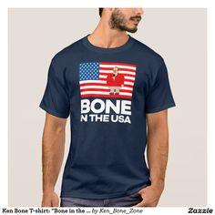 "Ken Bone T-shirt: ""Bone in the USA"" (Navy Blue)"