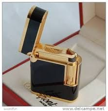 S. T. DUPONT LIGHTER  Soubreny  Black by STUNNINGCOLLECTIBLES