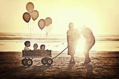 balloons wagons