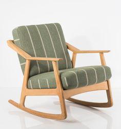 H. Brockmann-Petersen; Oak Rocking Chair, c1955.