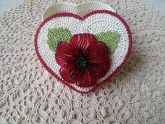 Knitted crochet box, little casket, gift on Valentine's Day, Valentine's Day, crochet box,  box heart, sale -15% by 2011milan on Etsy