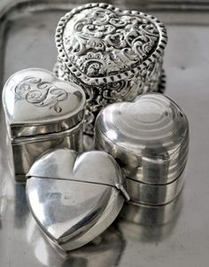 """queenbee1924: """"❤ """" Ana Rosa, Antique Engagement Rings, Valentine Heart, Follow Your Heart, Love Heart, Hearts, Jewelry Box, Silver Rings, Wedding Rings"""