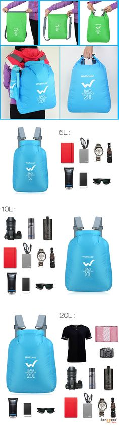 US$14.99 ~ 17.99 + Free shipping. Lightweight, Waterproof, Tear Resistant. Wellhouse Dry Bags protect your valuables from dirt, dust, sand and water. Just toss your gear inside, roll it down, and you're good to go on your next adventure. 3 Different Sizes, 4 Different Color, meet your all needs.