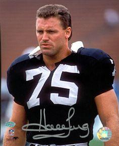 Howie Long | Howie Long Oakland Raiders - Helmet Off - Autographed 8x10 Photograph ...