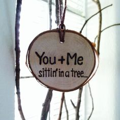 Rustic Country Weddings Personalized Wooden Tree Slice Christmas Ornament by hanscreations - Country Christmas Trees, Christmas Signs, Rustic Christmas, Christmas Tree Ornaments, Christmas Crafts, Wooden Ornaments, Christmas Ideas, Wood Burning Patterns, Wood Burning Art