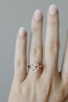 Cameron | 10x7mm Rose Gold | #weddingring #simple #proposal Vintage Diamond, Vintage Rings, Wedding Sets, Wedding Rings, Olive Avenue Jewelry, Affordable Rings, Moissanite Rings, Jewelry Companies, Proposal