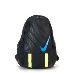 Amazon.com: Nike Tarpaulin Backpack Bookbag, Black-Neon Yellow-Blue... ($60) ❤ liked on Polyvore featuring bags