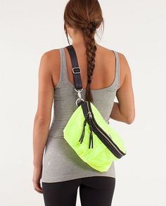 Lululemon Good Fortune Bag-love it! my new addition to my collection ( in black) wish it went with my black pumps for work :) Work Pumps, Yoga Clothing, Athletic Outfits, My Black, Running Shorts, Workout Wear, Black Pumps, Fitness Inspiration, Clutches