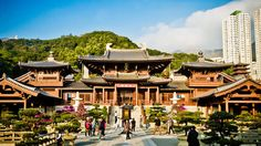The Chi Lin Nunnery in Kowloon, Hong Kong -Share your vacations and traveling adventures with the Story App by Disney! #yourstotell