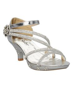 Another great find on #zulily! Silver Sparkle Laura Sandal by Ruby Shoes #zulilyfinds