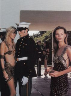 Vogue Italia July 1997 - Georgina Grenville & Kate Moss by Steven Meisel
