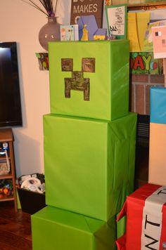 "Photo 1 of 41: Minecraft Birthday Party / Birthday ""D's Minecraft Party"" 