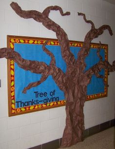 Tree of Thanks Giving - students will write their blessings and appreciations on the leaves <3