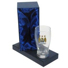 Personalised Manchester City Pint Glass in Gift Box - £20.99 + (FREE P)