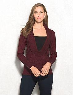 roz & ALI™ Marled Inset Sweater