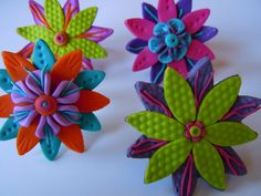Flower Rings by fimolandija, via Flickr