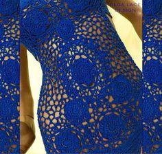 Купить Вязаный купальник от Olga Lace - кружевной купальник, Вязаный купальник…