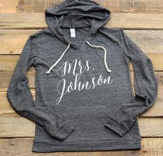 CUSTOM Mrs Pullover Lightweight hoodie by DeighanDesign