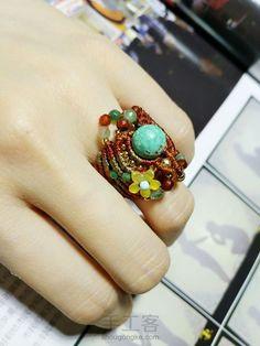Macrame Rings, Macrame Tutorial, Micro Macrame, Tutorials, Turquoise, Jewelry, Inspiration, Knots, Biblical Inspiration