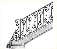 Right now I am looking for ideas for a stair railing design. I love the interlocking circle and X design of t. Rod Iron Railing, Metal Stair Railing, Stair Railing Design, Flur Design, Balustrades, Metal Working Tools, Grill Design, Diy Dollhouse, Blacksmithing