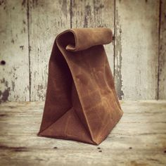 Waxed Canvas Lunch Bag - Whiskey | dotandbo.com