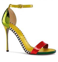 Sandali in vernice colorata Sergio Rossi