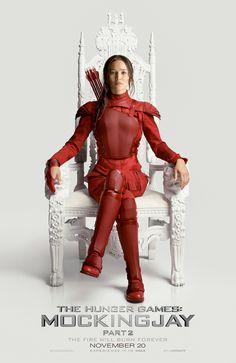 Hunger Games, Mockingjay part 2- Jennifer Lawrence in red armor