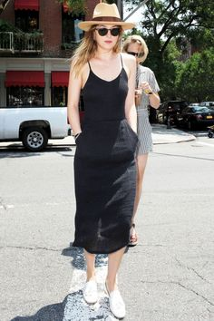 Dakota Johnson Works A Day LBD Out And About In New York, 2014
