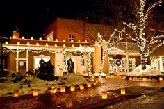 "santa fe new mexico beautiful homes   ... Designs » ""McLarry Fine Art"" Luninaria Walk – Santa Fe"