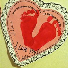 From the bottom of my heart To the tips of my toes I love you!