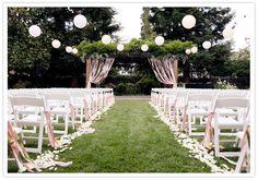 Small fresh lawn wedding venue decoration