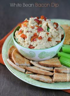 White Bean and Bacon Dip - savory and smoky with a hummus-like texture ...