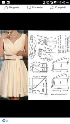 Vestidos cortos Source by morrniey cortos moldes Fashion Sewing, Diy Fashion, Fashion Dresses, Dress Sewing Patterns, Clothing Patterns, Sewing Sleeves, Diy Kleidung, Diy Clothing, Dressmaking