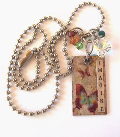 Imagine ~ upcycled necklace love it! must try! #ecrafty